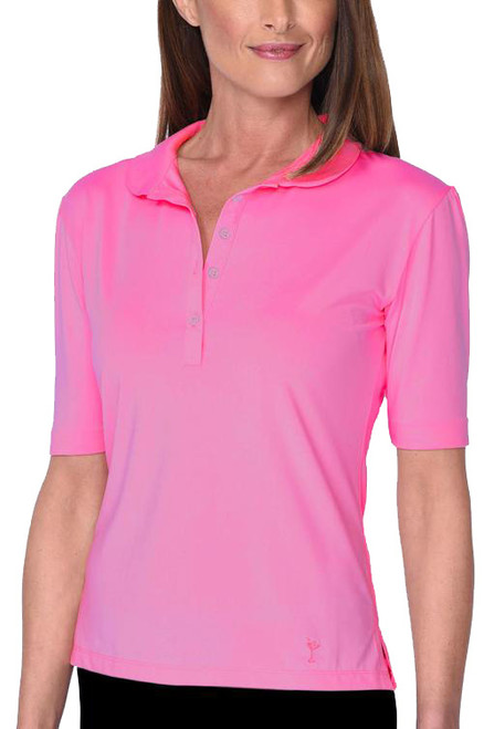 Golftini Elbow Hot Pink Tech Top