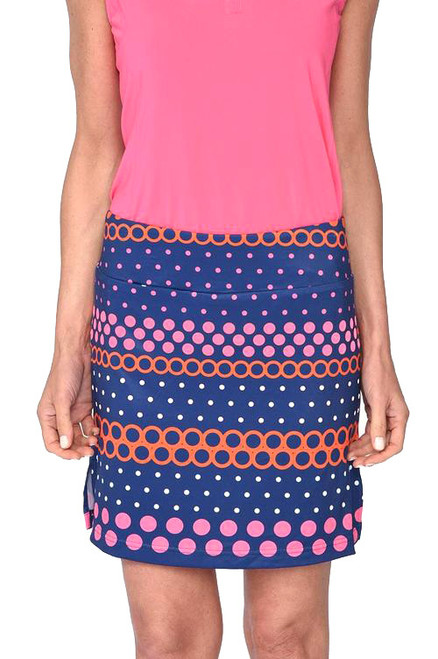 Golftini Best Ball Polka Dot Pull-On Tech Golf Skort