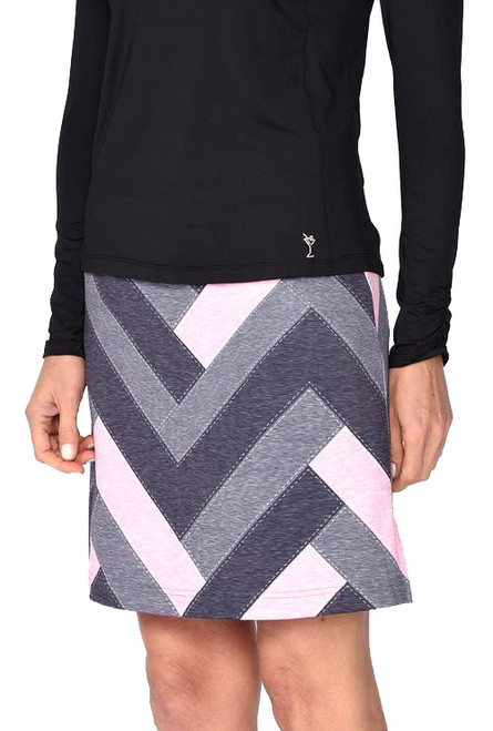 Golftini Twilight Patchwork Pull-On Tech Golf Skort