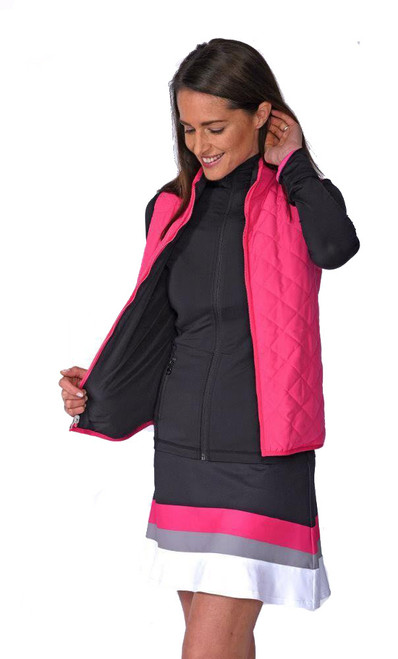 Golftini Black / Hot Pink Reversible Wind Vest