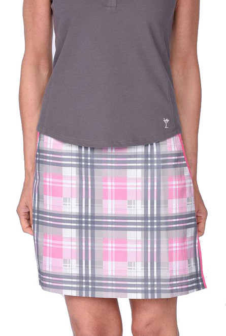 Golftini Transfusion Plaid Performance Golf Skort