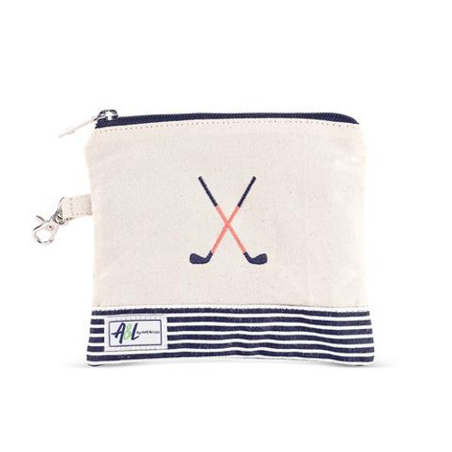 A&L Blaine Crossed Clubs Golf Tee Bag