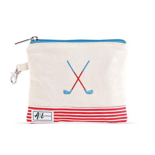 A&L Bitsy Crossed Clubs Golf Tee Bag