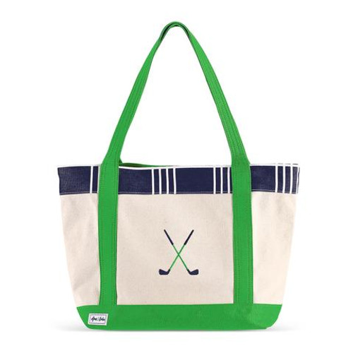 A&L Parker Plaid Golf Lovers Tote