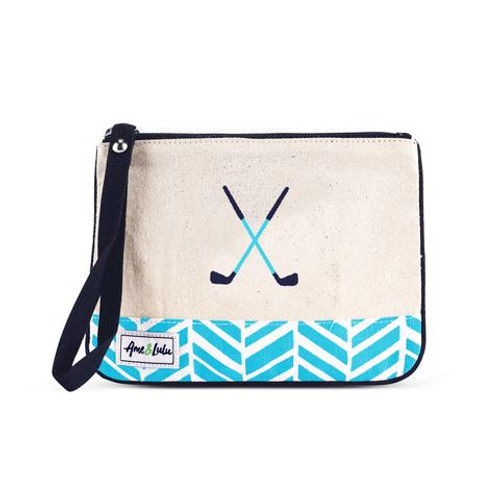 A&L Surf Golf Lovers Wristlet
