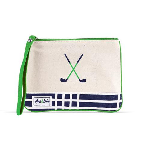 A&L Parker Plaid Golf Lovers Wristlet