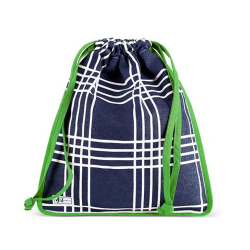 A&L Parker Plaid Drawstring Shoe Bag