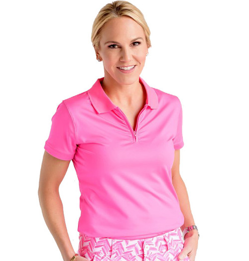Birdies & Bows On Par Pink Ladies Golf Polo