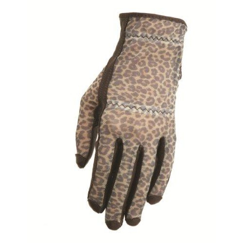 HJ Glove Solaire Brown Leopard Ladies Golf Glove - Size: Large