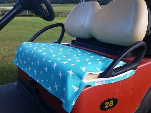 Birdie Blue Fade Resistant Cart Seat Cover