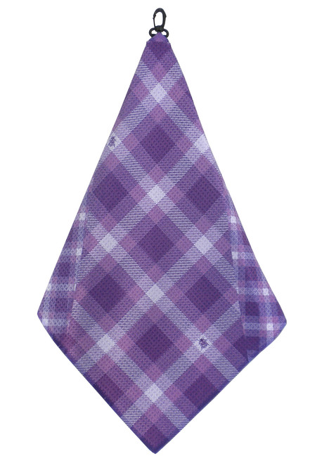 Beejo Purple Plaid Golf Towel