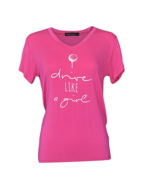 Bump & Run Pink Drive Like a Girl Tee