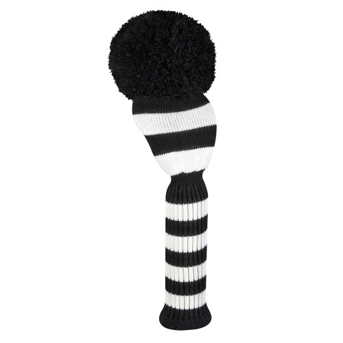 Just4Golf Black & White Stripe Driver Cover