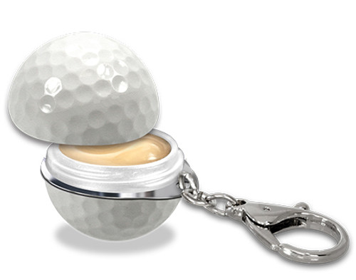 Twist & Pout Golf Ball Lip Balm SPF 20 with Keychain