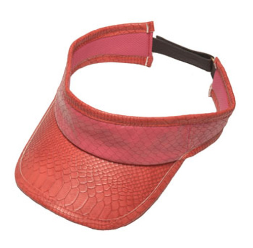 Glove It Pink Snake Ladies Golf Visor