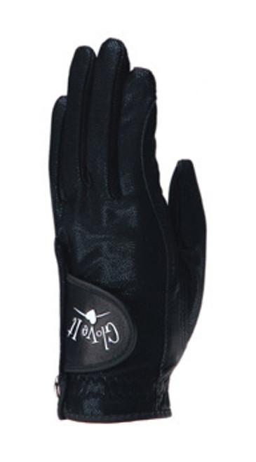 Glove It Solid Black Ladies Golf Glove - Size: Medium