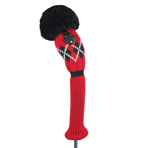 Just4Golf Red Argyle Hybrid Cover