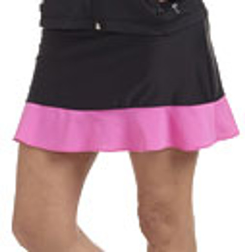 Golftini Black and Pink GT Tech Pull On Skort