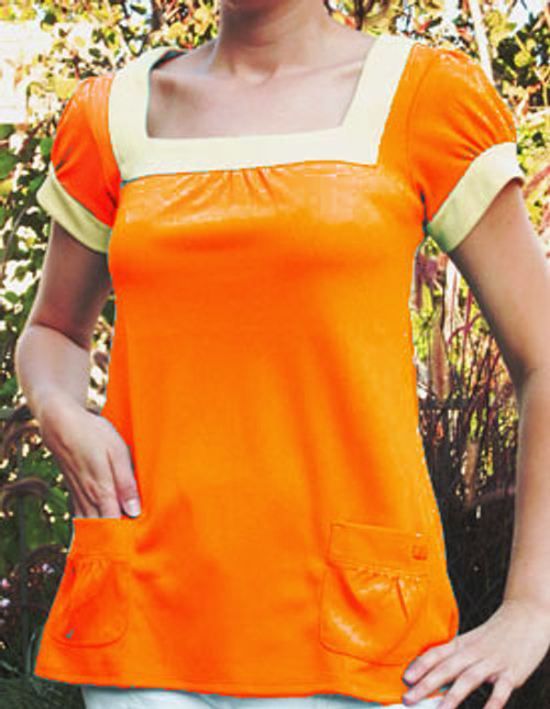 Green Tee Apparel Women's Orange Maverick Swing Golf Tunic - Size: Medium