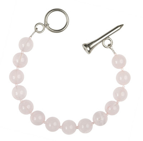 Sporty Chic Rose Quartz Golf Tee Toggle Bracelet