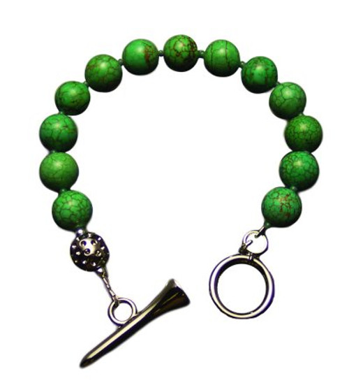 Sporty Chic Turquoise Golf Tee Toggle Bracelet
