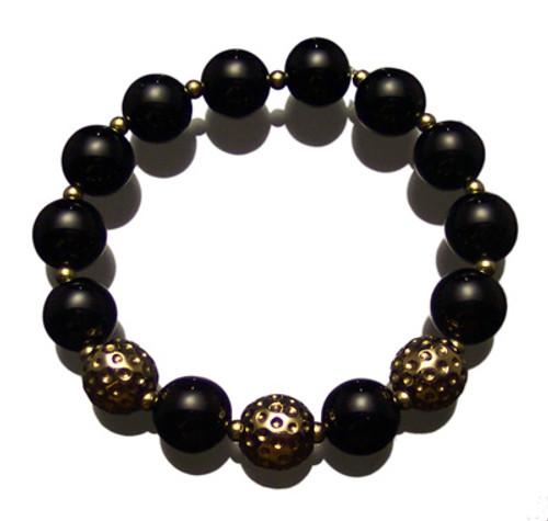 Sporty Chic Black Onyx Golf Bracelet