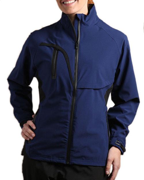 Glen Echo Navy Women's Stretch Tech Rain Jacket