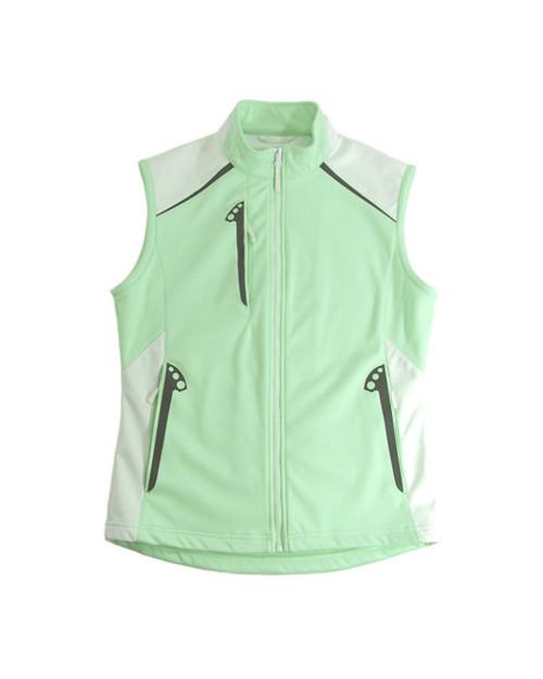 Glen Echo Mint Ladies Stretch Tech Water Repellent Vest