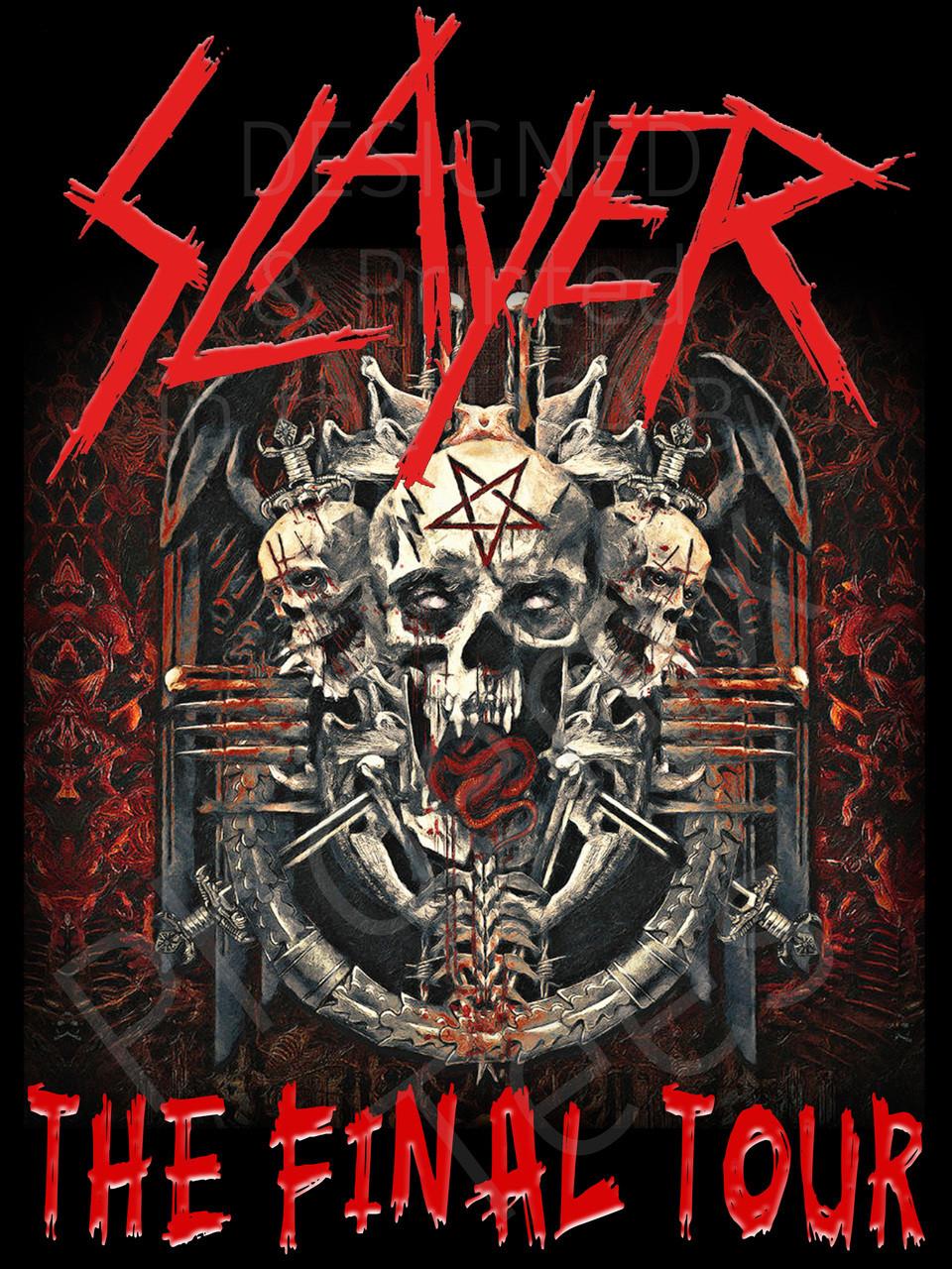 "Slayer 2 ""The Final Tour"" 2018 Concert T shirt"