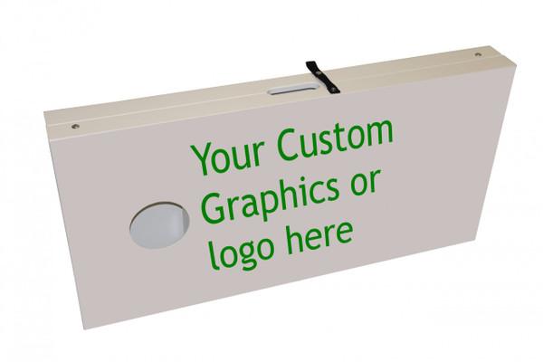 Cornhole Board Set with Custom Graphics side view
