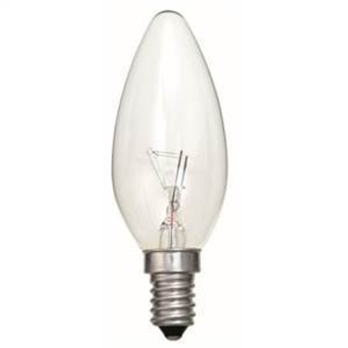 SES 60w Clear Candle Tough Lamp Bell [00091 PLU71153]