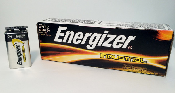 Energizer Industrial 9 Volt Batteries - Box of 12
