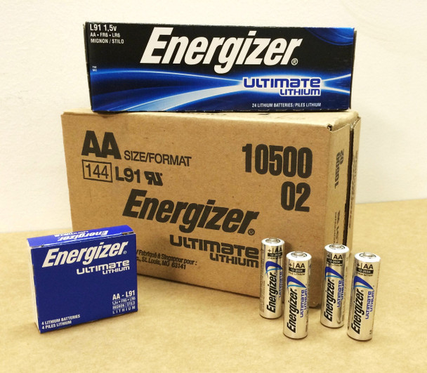 Energizer Lithium Ultimate AA Batteries - Box of 24
