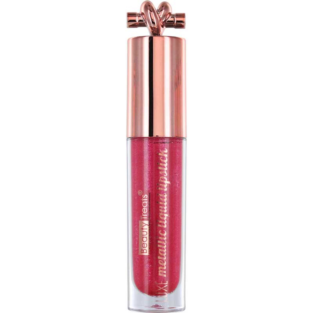 Beauty Treats Luxe Metallic Liquid Lipstick - Rose 04