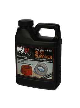 Best Review Rust Remover 16x Concentrate: 16 oz makes 2-gallons.  Does not harm paints, plastics or rubbers