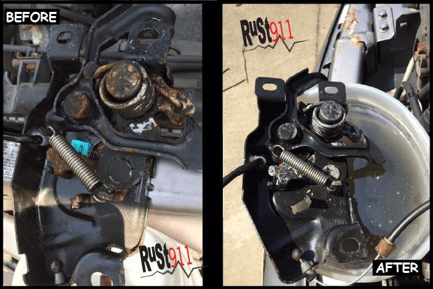 Rusted Honda Hood Latch