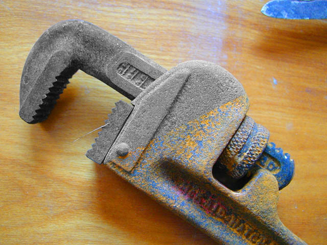 Rusted Pipe Wrench