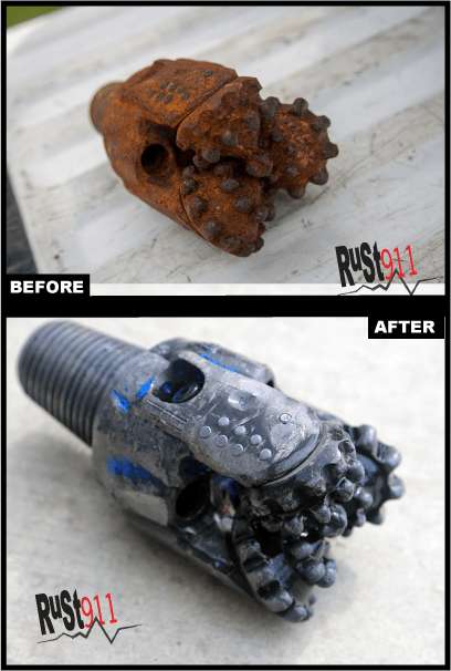 Rusted Gas Well Drill Bit