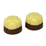 White Two Tone Diamond Truffle