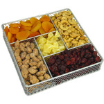 Square Metal Sectional with Dried Fruit and Nuts