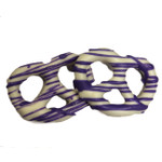 White Chocolate Covered Pretzel with Purple String Drizzle