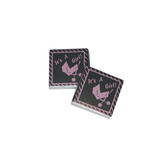 Set of 4 Chocolate Squares- It's a Girl