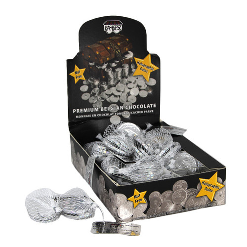 Holographic Dark Chocolate Coins- Chanukah Gelt