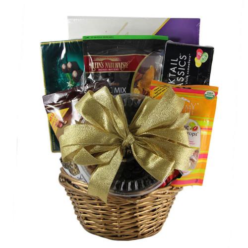 Large Gold Gift Basket
