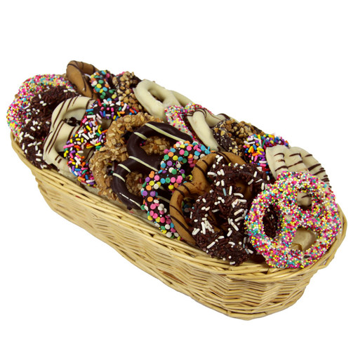 Colorful Pretzel Basket