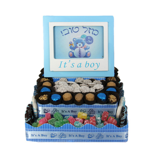 Two Tier Square Centerpiece-Boy
