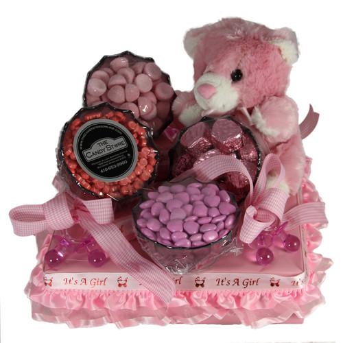 Hug-a-bear Girl Centerpiece