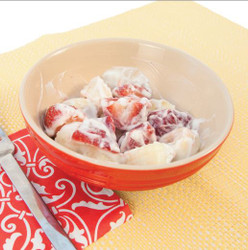 Banana Strawberry Sour Cream Salad Visual  Recipe And Comprehension Sheets: Pages 22