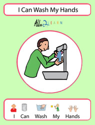 I Can Wash My Hands Social Story: Pages 11