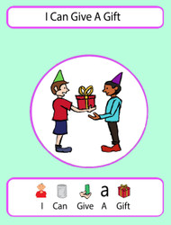 I Can Give A Gift Social Story: Pages 9